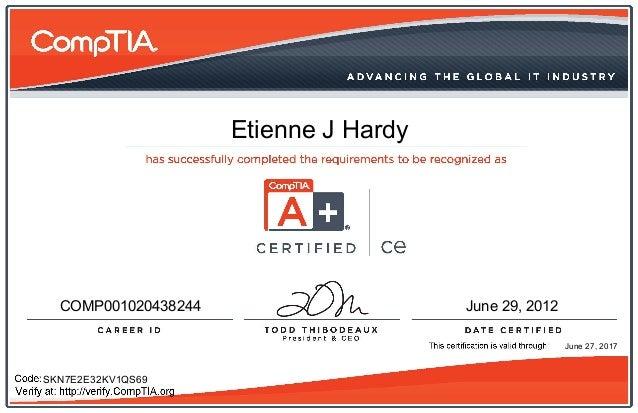 Etienne J Hardy COMP001020438244 June 29, 2012 SKN7E2E32KV1QS69 June 27, 2017