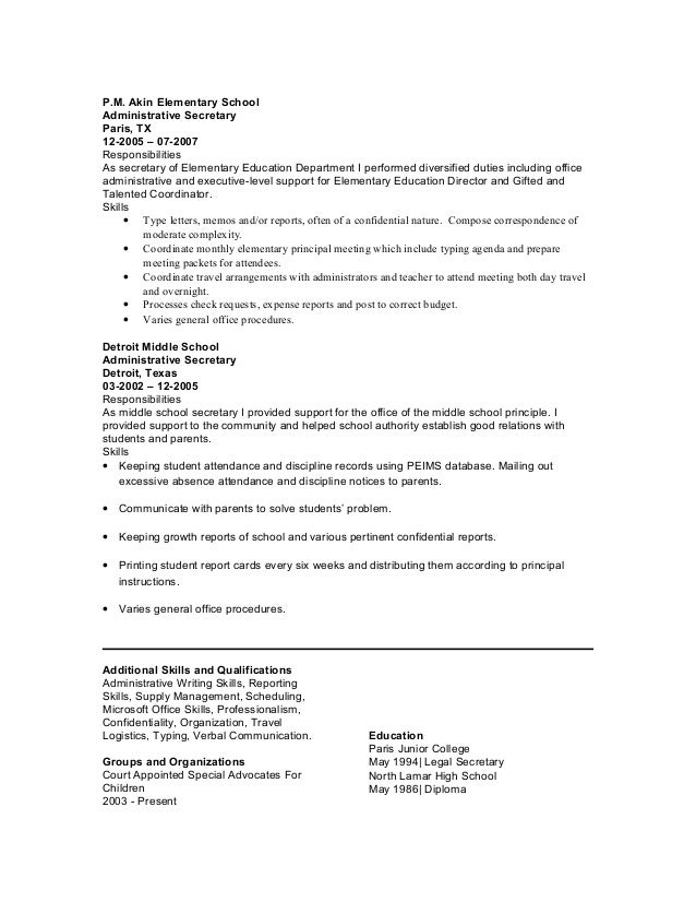 Resume Cover Letter Samples Medical Secretary Sample Resume Pinterest  Resume For Secretary