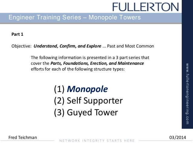 Part 1 Monopole Tower Structures
