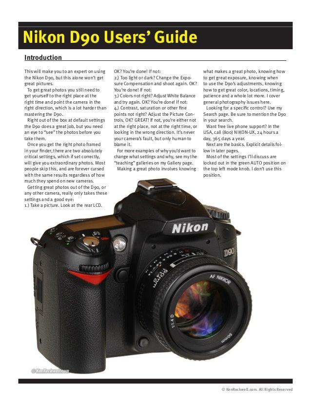nikon d90 user guide rh slideshare net Nikon D5 Nikon D800