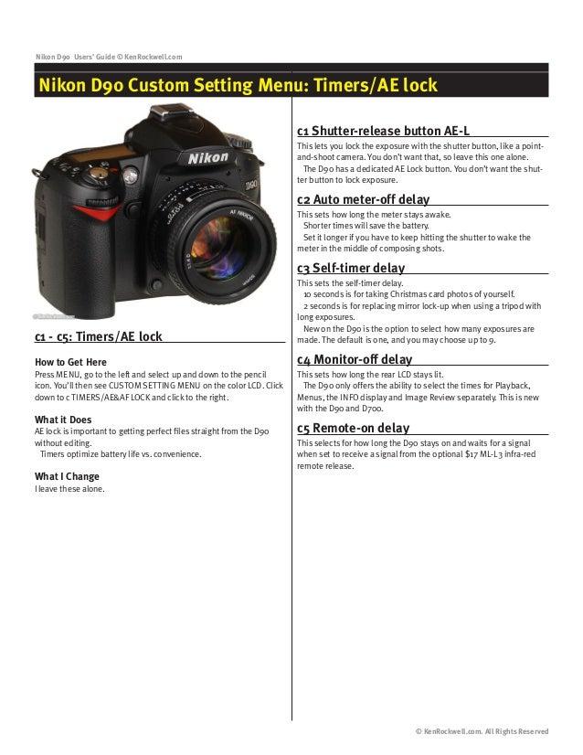 nikon d90 user guide rh slideshare net nikon d90 quick reference guide Nikon D90 Camera