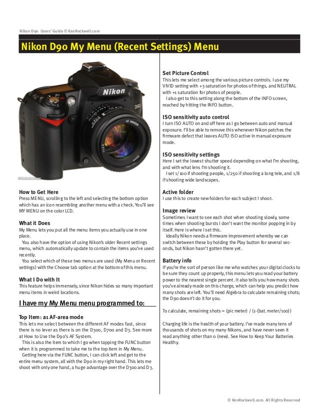 how to change settings on nikon d90 in manual mode