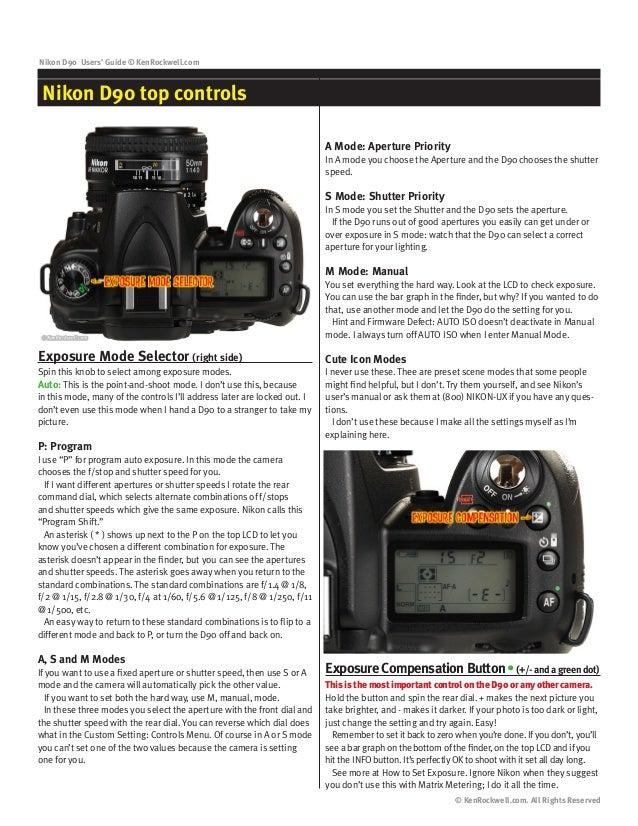 nikon d90 user guide rh slideshare net nikon d90 manual mode tutoriel how to use d90 manual mode