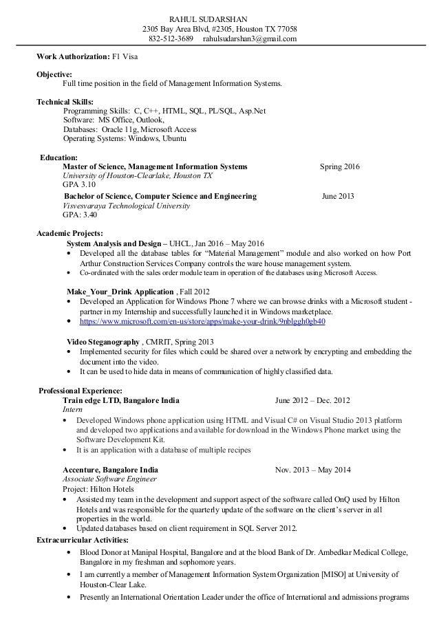 Master S Resume