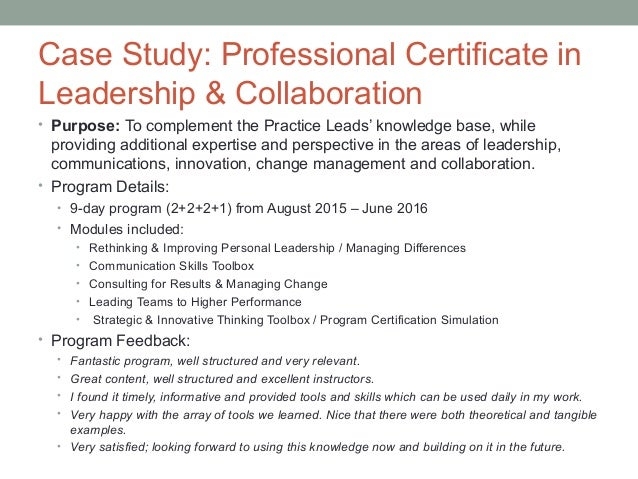 leadership case study essay Learningedge at mit sloan offers case studies on topics such as ethics and leadership learn more about these contemporary business issues.