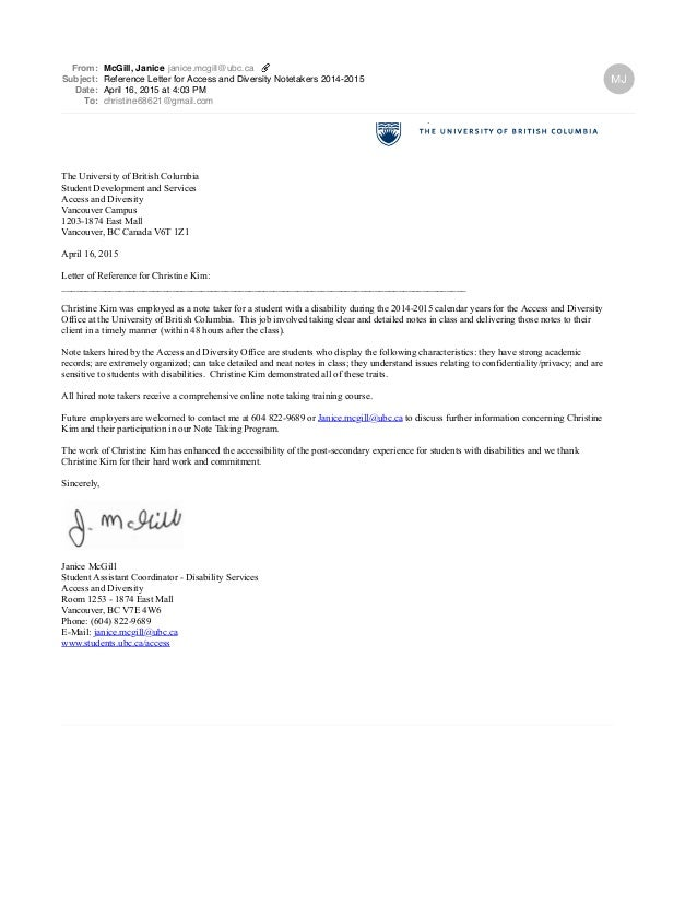 reference letter for access and diversity notetakers 20142015