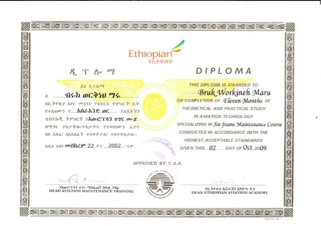airframe maintenace diploma