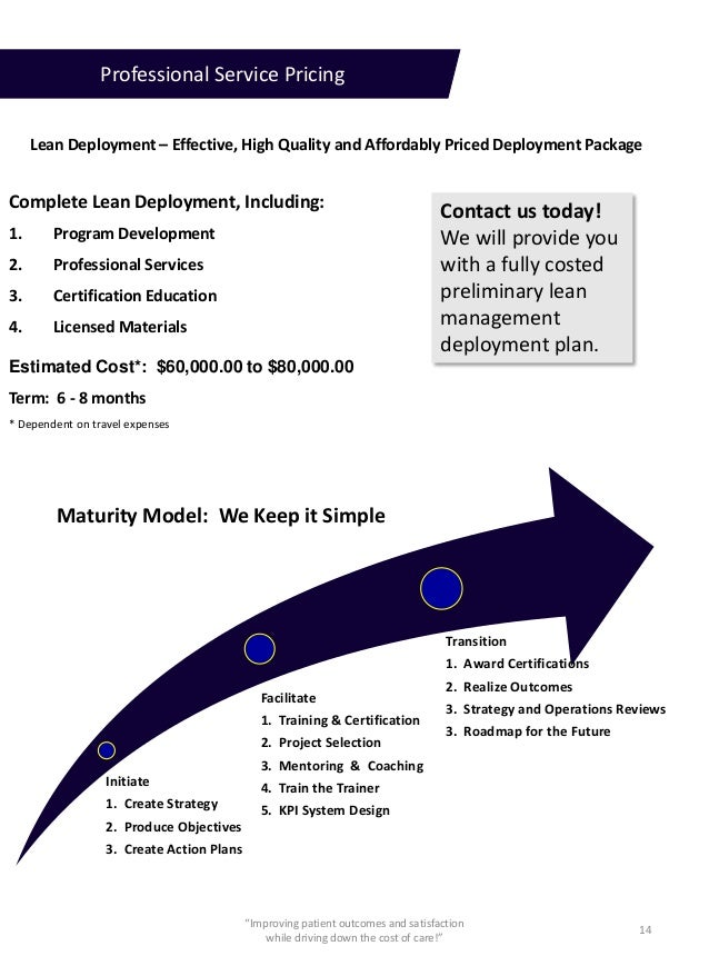 Service Description Lean Transformation For Healthcare