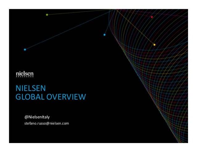 NIELSEN GLOBAL OVERVIEW @NielsenItaly stefano.russo@nielsen.com