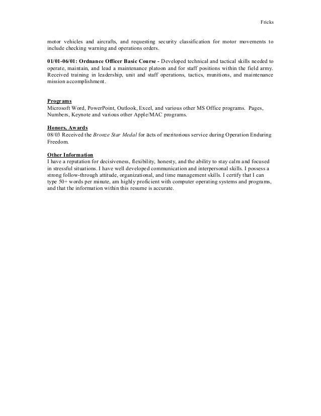How To Include Army Deployment In Resume