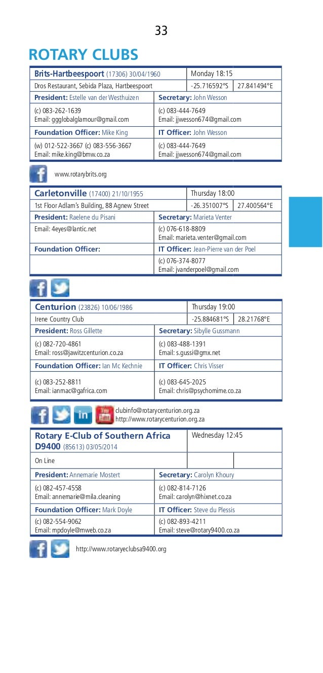 Rotary D9400 Directory 2016-2017