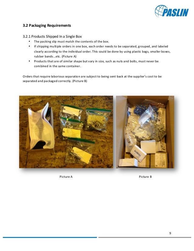 Paslin Supplier Manual