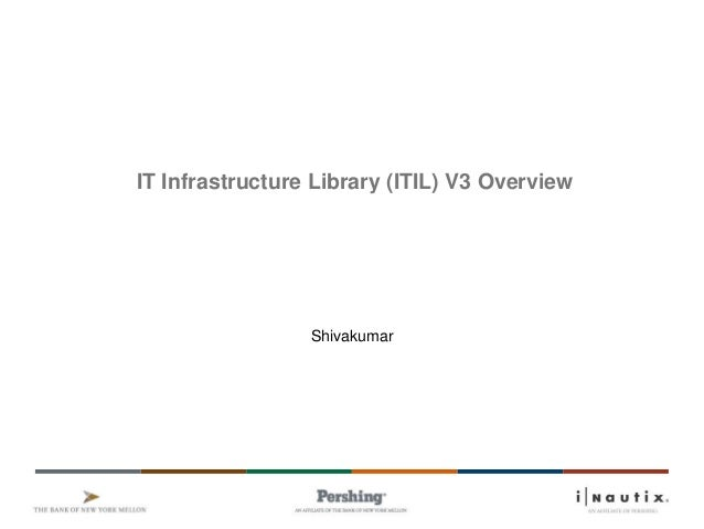 IT Infrastructure Library (ITIL) V3 Overview Shivakumar
