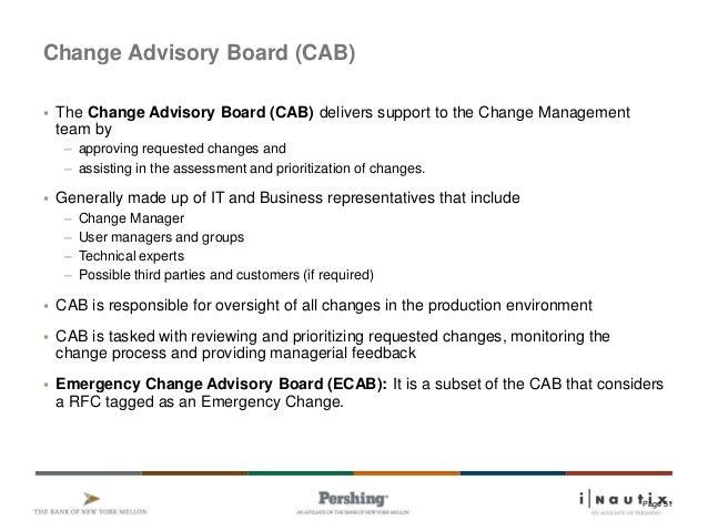 Unique Change Advisory Board Template Festooning - Resume Ideas ...