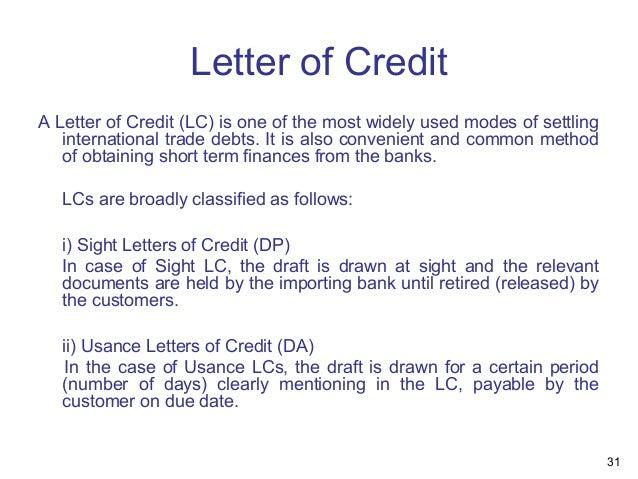 letter of credit draft template - presentation overview of bank audit
