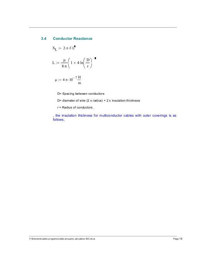cable ampacity calculations- IEC