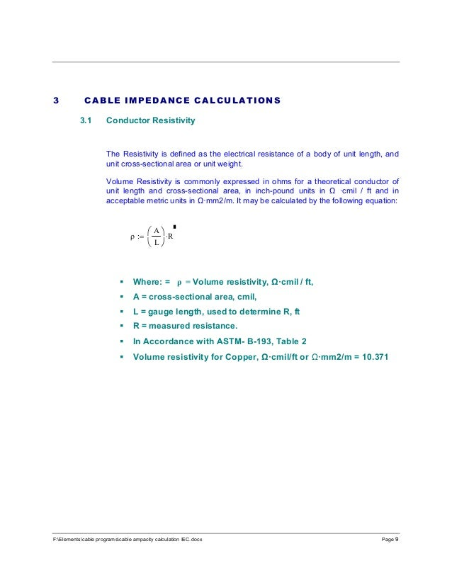 Cable ampacity calculations iec 9 felementscable programscable ampacity keyboard keysfo Images