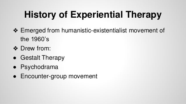 Experiential Therapy Powerpoint Slide 2