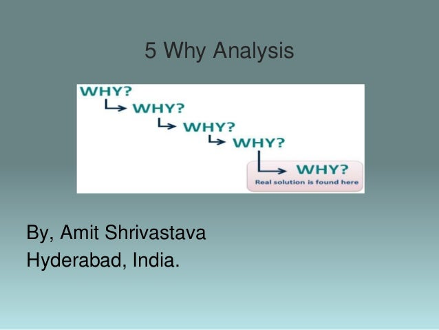 5 Why Analysis By, Amit Shrivastava Hyderabad, India.