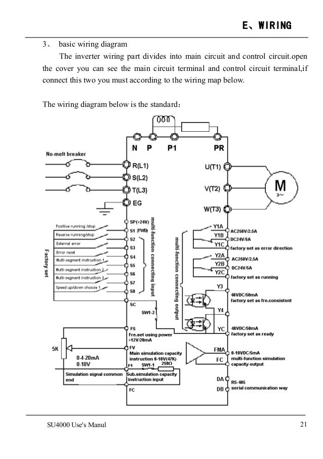 Su4000 Ac Drivesfrequency Inverter Manual 1: Inverter Wiring Diagram Manual At Imakadima.org