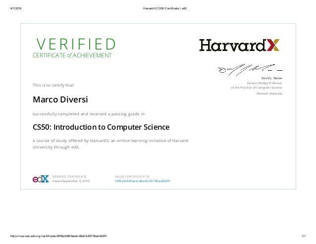 HarvardX CS50 Certificate _ edX