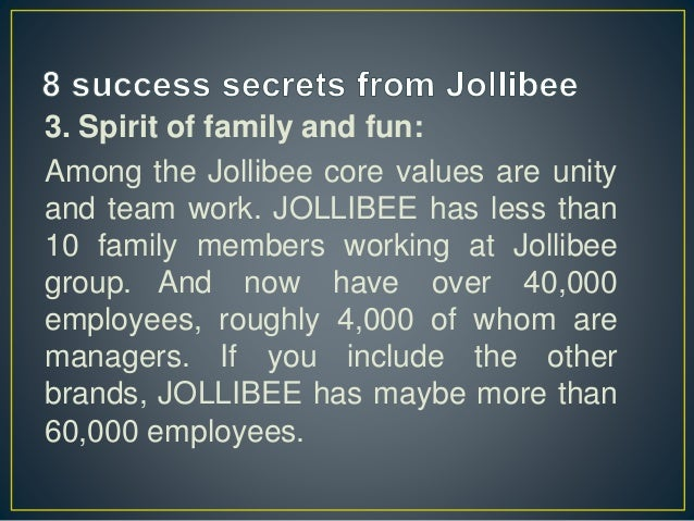 organizing system of jollibee Jollibee case analysis into the norms and value systems of the firm jollibee should allow certain level philippine as part of the organization.