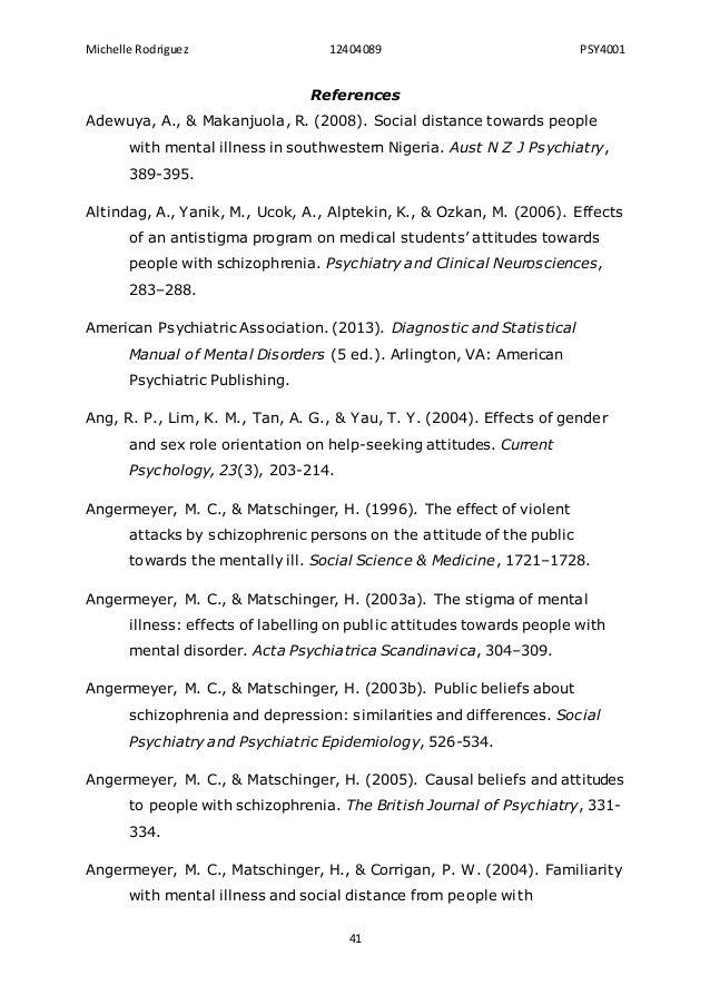 Attitudes Toward Mental Health Dissertation