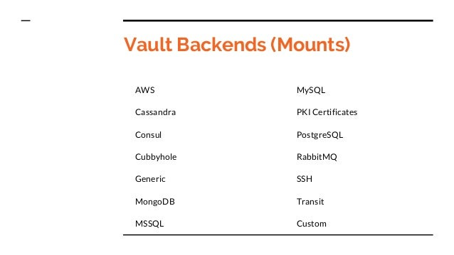 Vault secret and key management for Mongodb consul