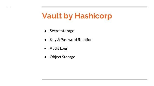 Vault secret and key management for Vault hashicorp