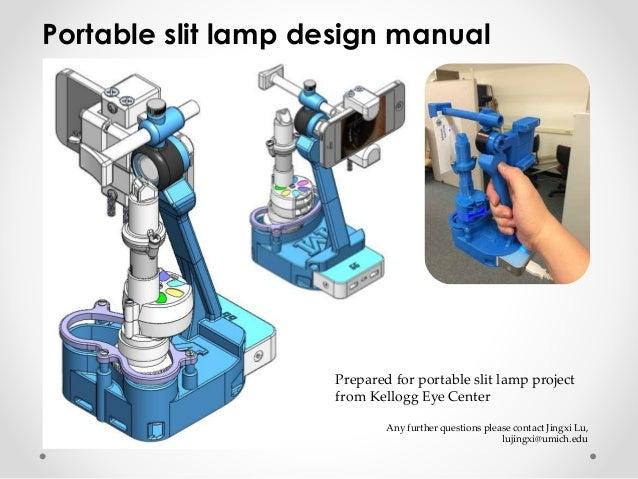 Portable slit lamp design manual - Porta cd design ...