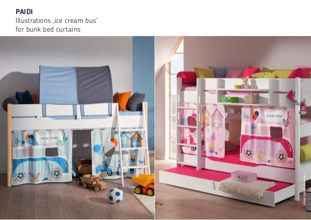 20 ©BehrendtGraphicDesign PAIDI Illustrations 'ice cream bus' for bunk bed curtains