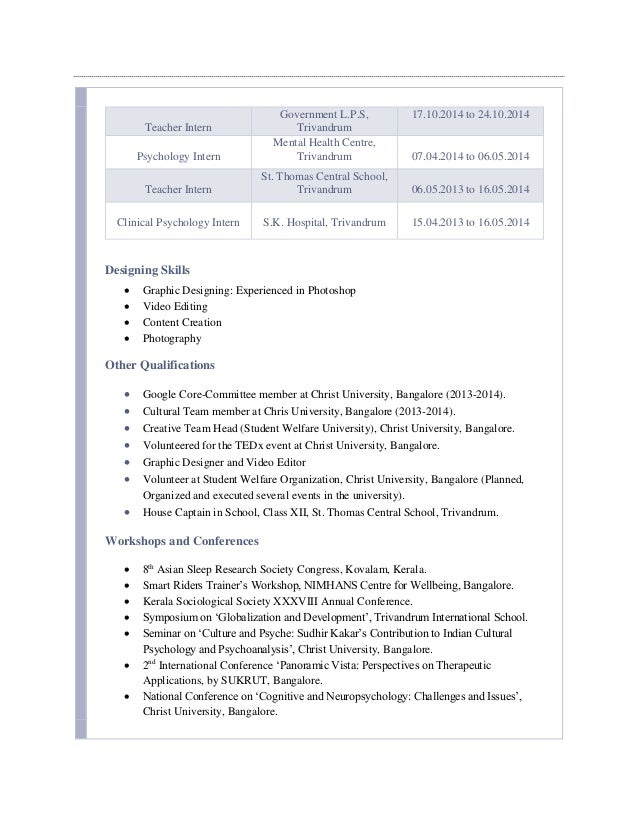 Clinical Psychologist Resume Sample Oyulaw  Psychologist Resume