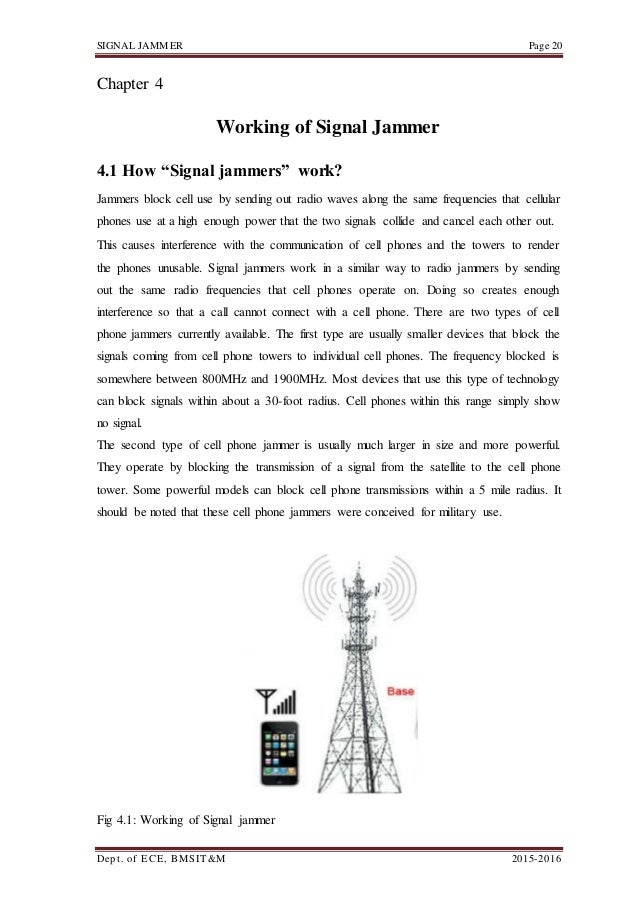 Project report on signal jammer 30 signal jammer ccuart Choice Image