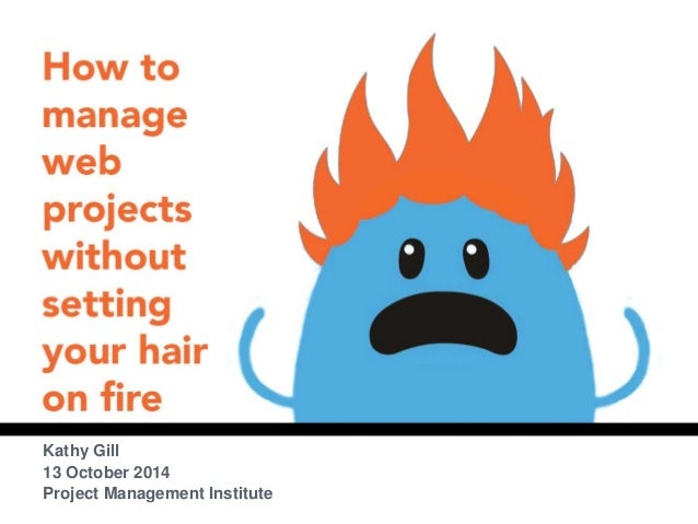 HOW TO MANAGE WEB  PROJECTS WITHOUT SETTING  YOUR HAIR ON FIRE  Kathy Gill  13 October 2014  Project Management Institute