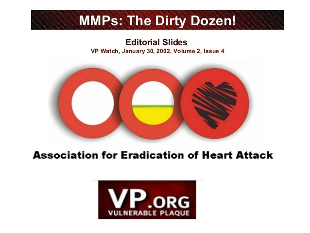 Editorial Slides VP Watch, January 30, 2002, Volume 2, Issue 4 MMPs: The Dirty Dozen!