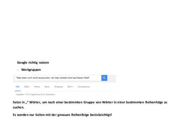 - Erweiterte Suche (nach Eingabe des Suchbegriffs, auf der rechten Seite)