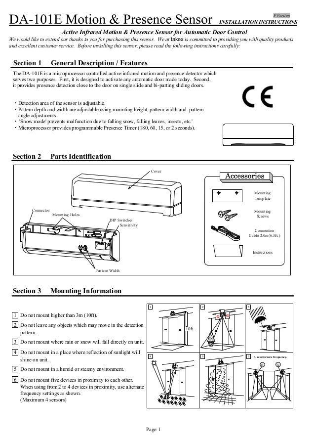 Takex Da 101e Instruction Manual