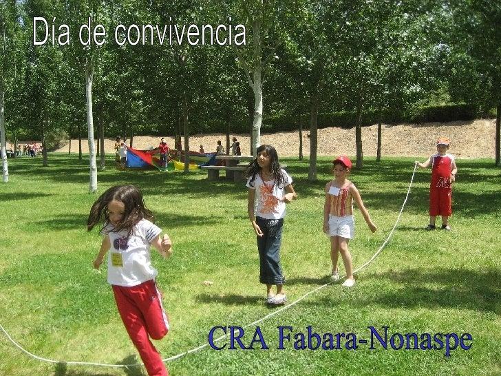 Día de convivencia CRA Fabara-Nonaspe