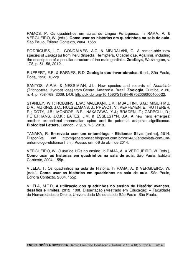 RAMOS, P. Os quadrinhos em aulas de Língua Portuguesa. In RAMA, A. &  VERGUEIRO, W. (eds.), Como usar as histórias em quad...