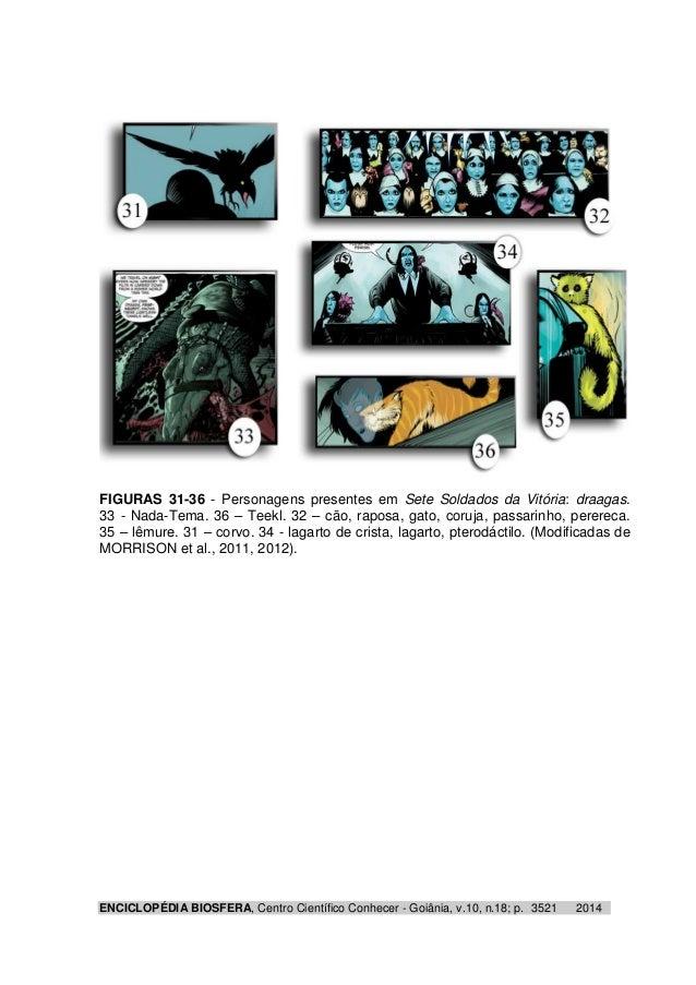 FIGURAS 31-36 - Personagens presentes em Sete Soldados da Vitória: draagas.  33 - Nada-Tema. 36 – Teekl. 32 – cão, raposa,...