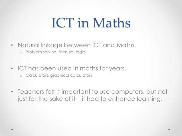ICT across the curriculum - Mathematics Slide 2