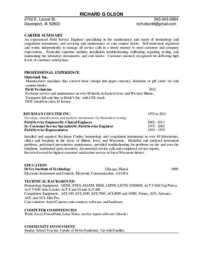 Richard Olson's Resume 2-24-2015 UPDATED