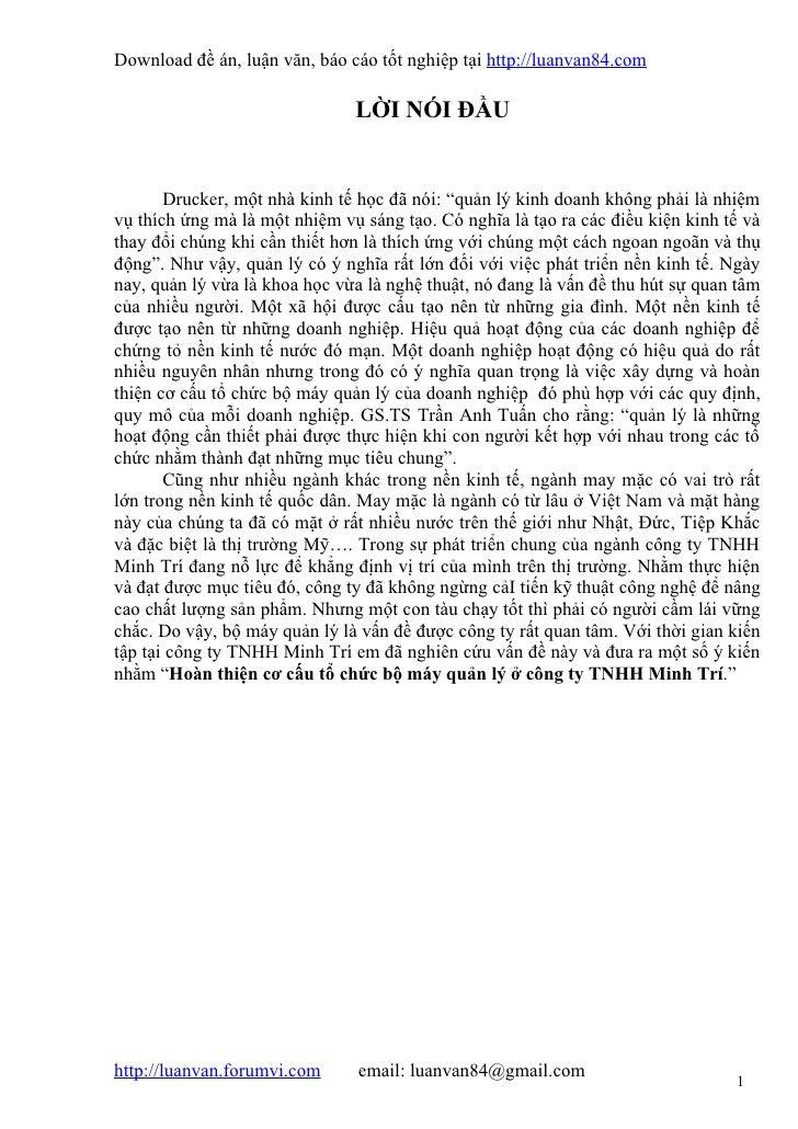 Download đề án, luận văn, báo cáo tốt nghiệp tại http://luanvan84.com                               LỜI NÓI ĐẦU       Druc...