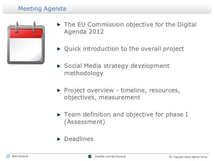 Digital Agenda Strategy Team Meeting