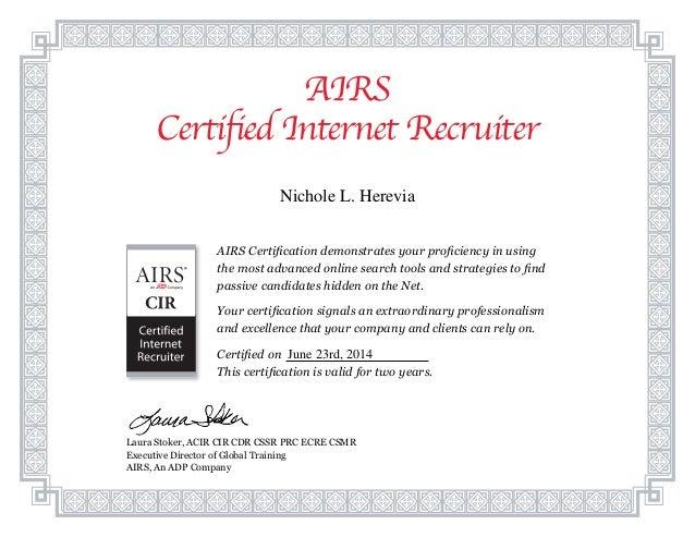 Cir Certificate