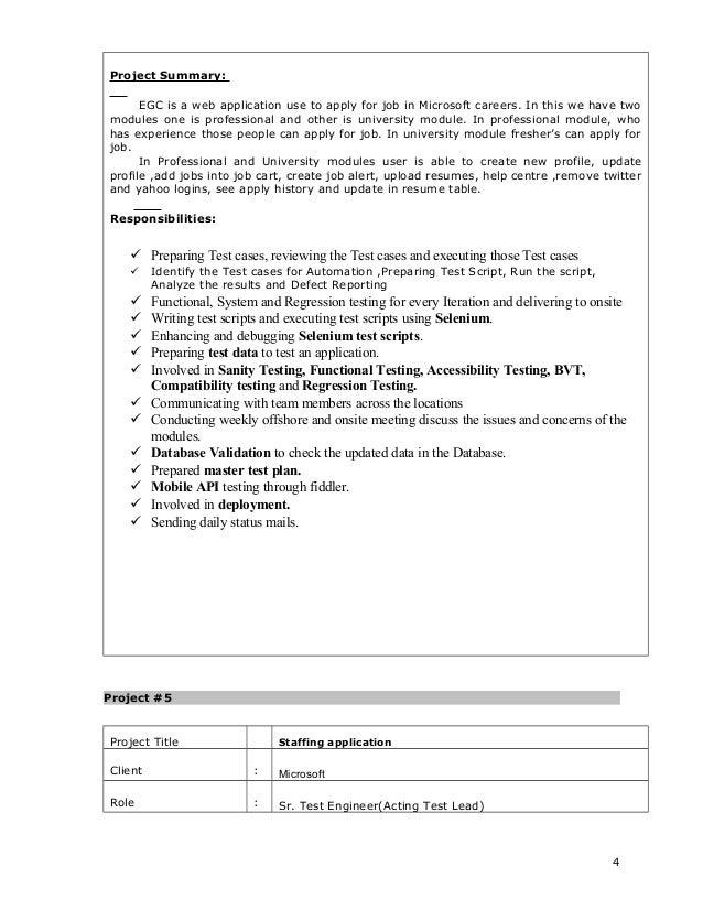 Nice SlideShare Inside Selenium Resume