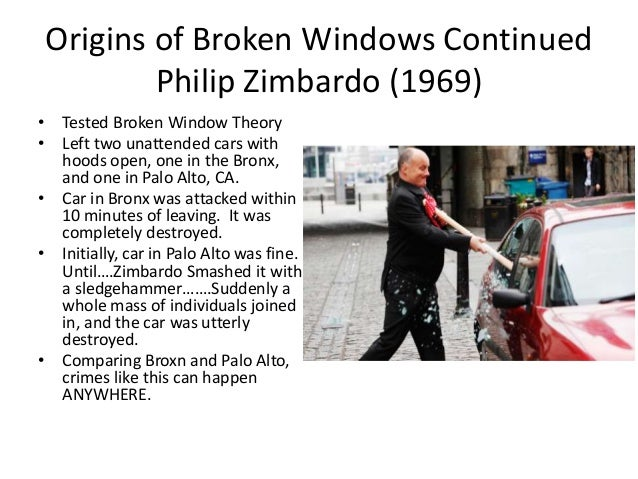 thesis broken windows theory Read this essay on broken windows come browse our large digital warehouse of free sample essays get the knowledge you need in order to pass your classes and more.