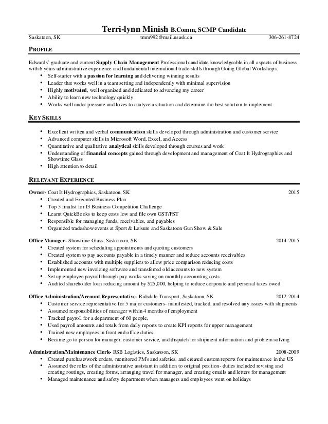 global sourcing new graduate resume