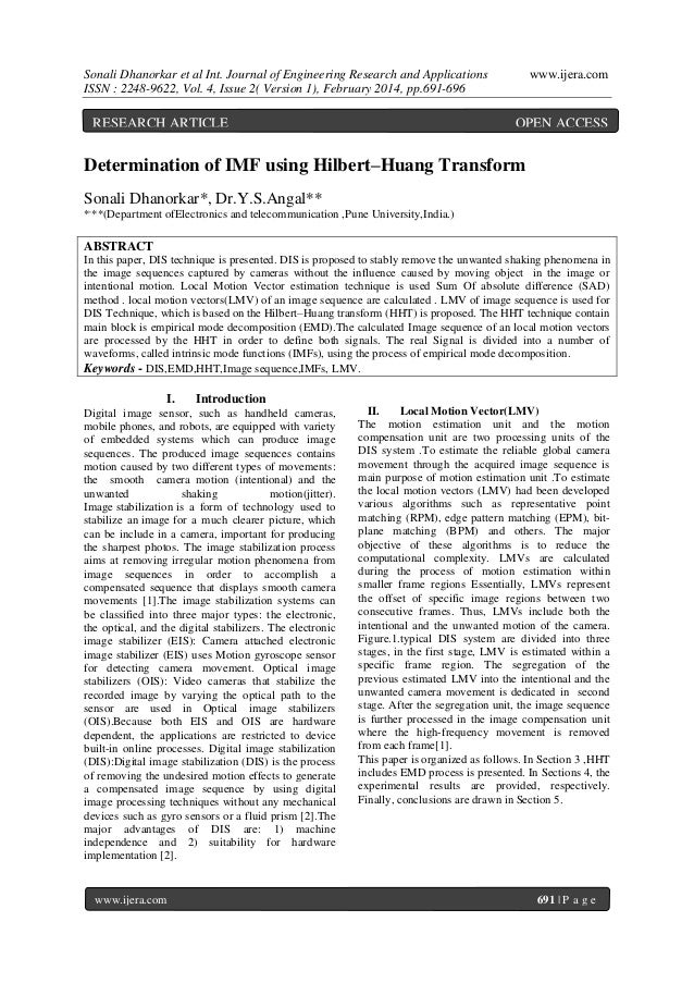 Sonali Dhanorkar et al Int. Journal of Engineering Research and Applications ISSN : 2248-9622, Vol. 4, Issue 2( Version 1)...