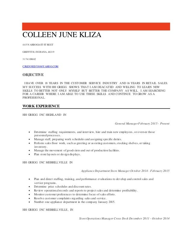 colleen kliza 2015 resume